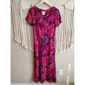 Hilo Hattie Hawaiian Vintage Floral Rayon Dress 6